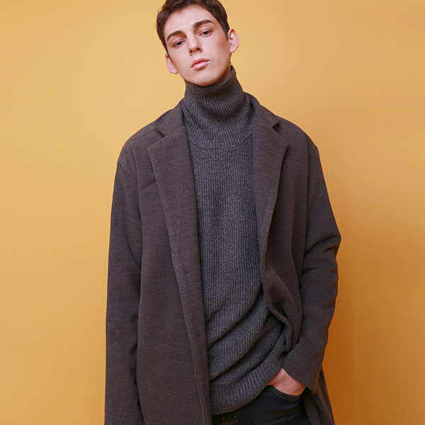 Crump heavy weight over fit coat (CO0001_2) charcoal