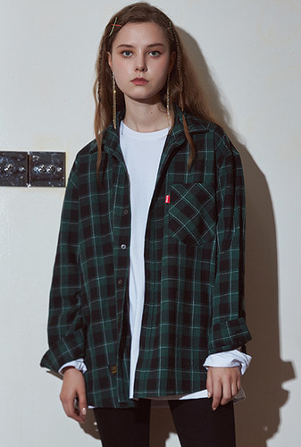 [크럼프] Crump over fit artwork check shirt no.23 (CS0023)