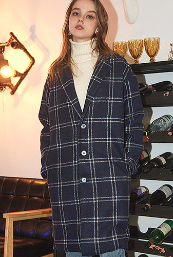 [크럼프] Crump over-fit classic check coat (CO0010)