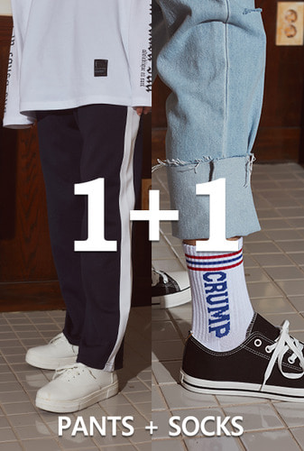 [1+1][크럼프]Crump line track pants + Crump logo socks (CP0030-1)