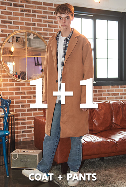 [1+1][크럼프]Crump over-fit classic coat +Crump x thisrespect washed denim