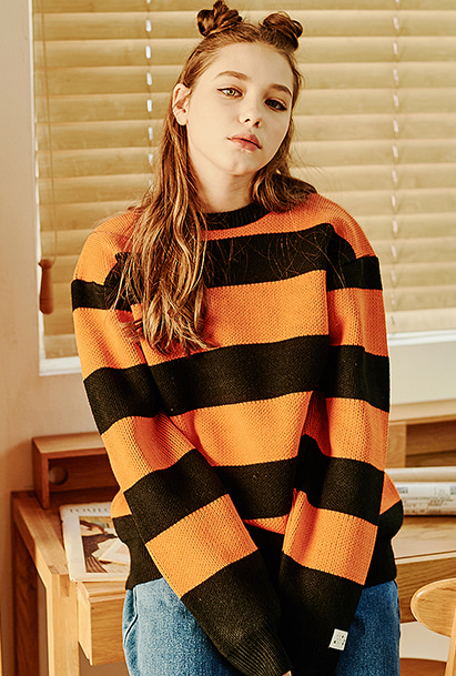 [크럼프] Crump stripe overfit knit (CT0121-1)