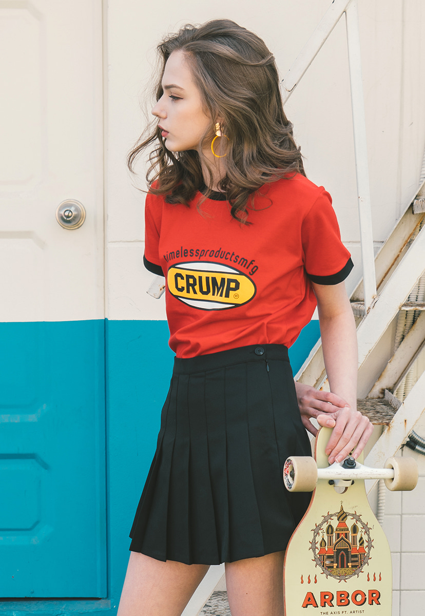 [크럼프] Crump color logo woman tee (CT0140-3)