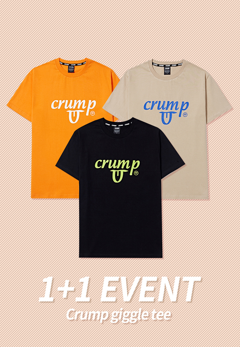 [크럼프] 1+1 Crump giggle tee (CT0156)