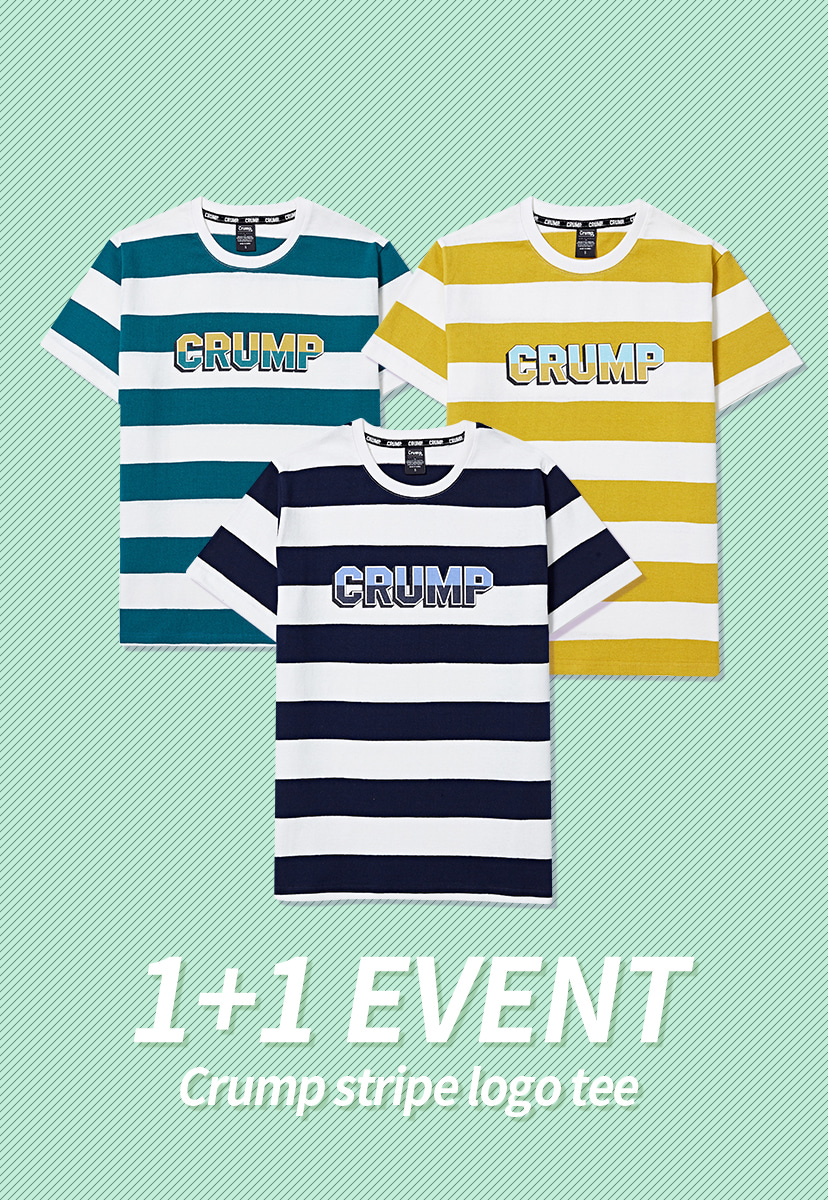[크럼프] 1+1 Crump stripe logo tee (CT0158)