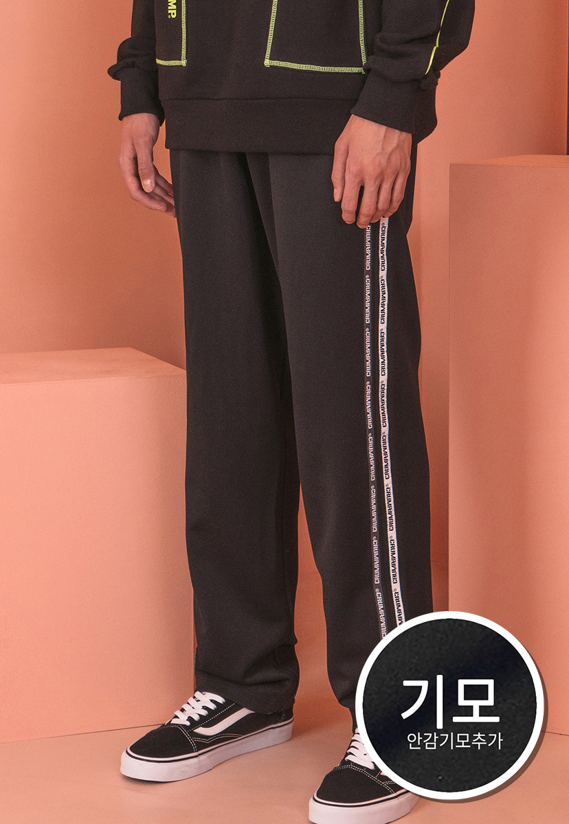 [크럼프] [기모] Crump tape track pants (CP0065)