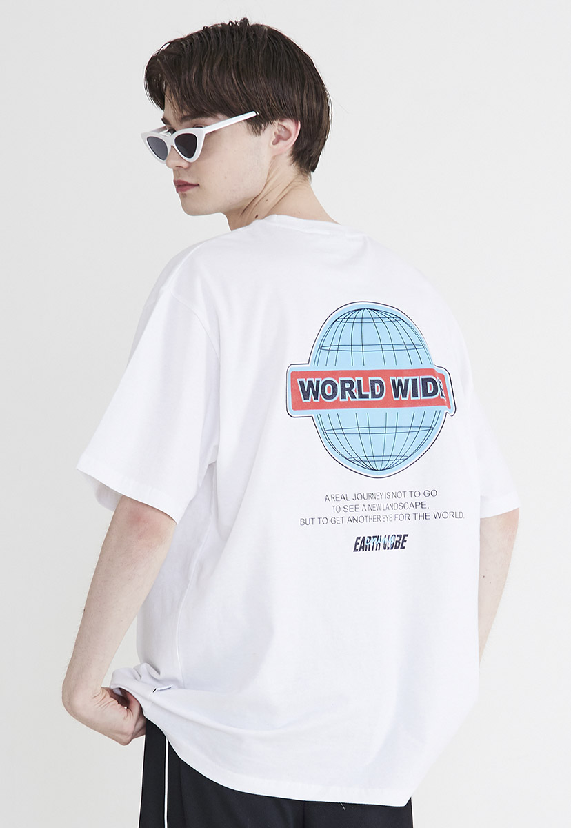 [크럼프] Crump worldwide logo t-shirt (CT0205-3)