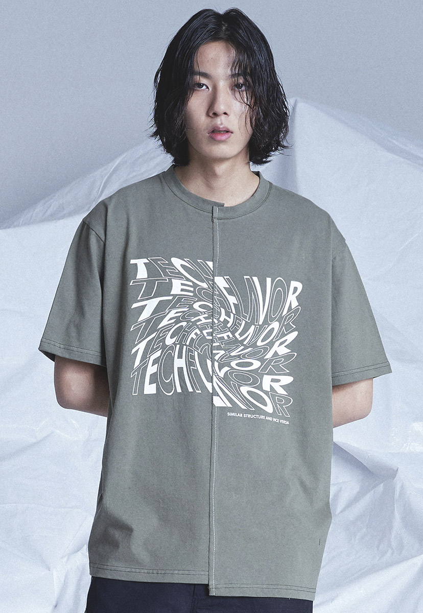 [테크플레이버] Techflavor split stich t-shirt (TT0018-1)