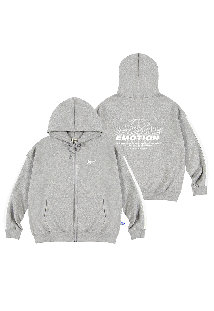 [크럼프][기모] Crump emotion line hoodie zip-up (CT0239g-2)