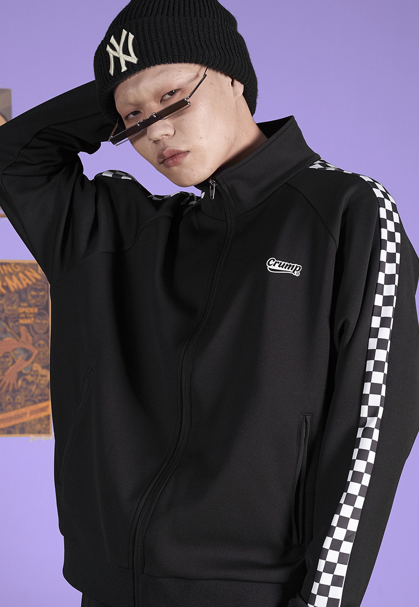 [크럼프] Crump checkerboard track top (CO0041)