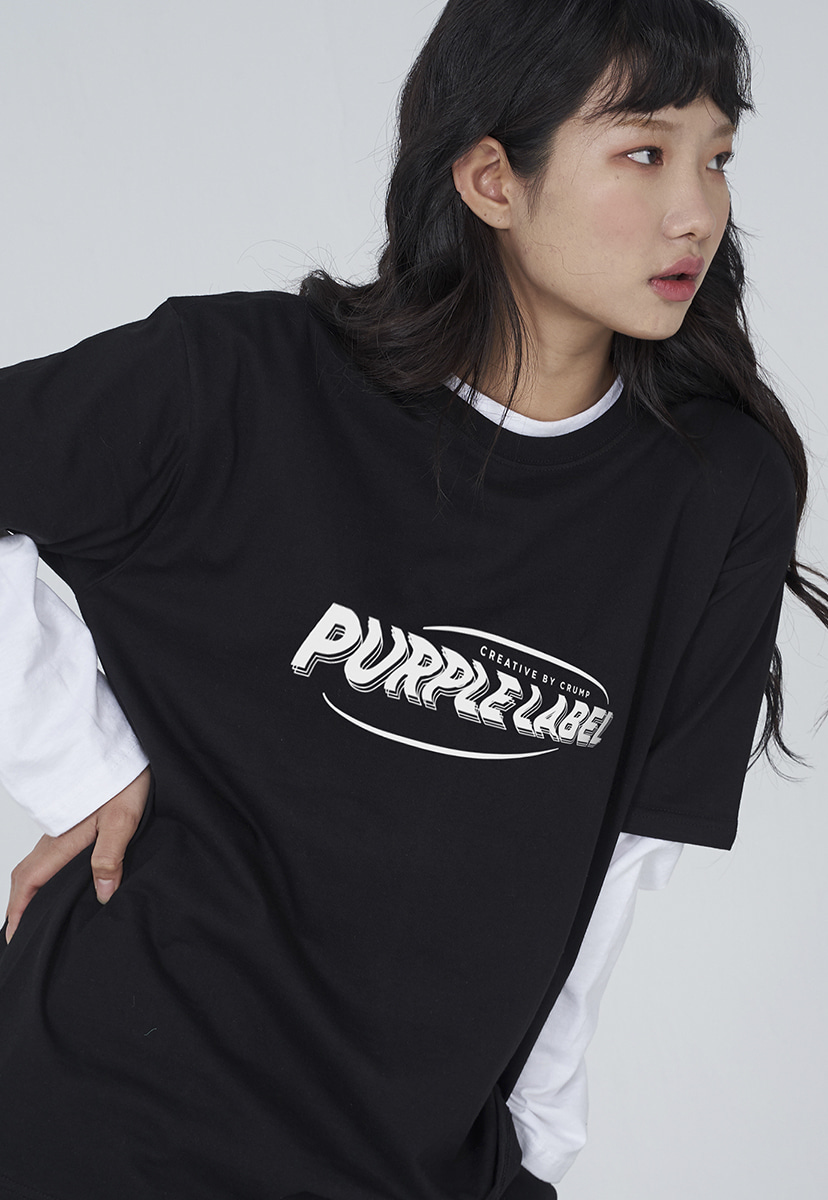 [퍼플라벨] Purple label wave logo tee (PT0004)