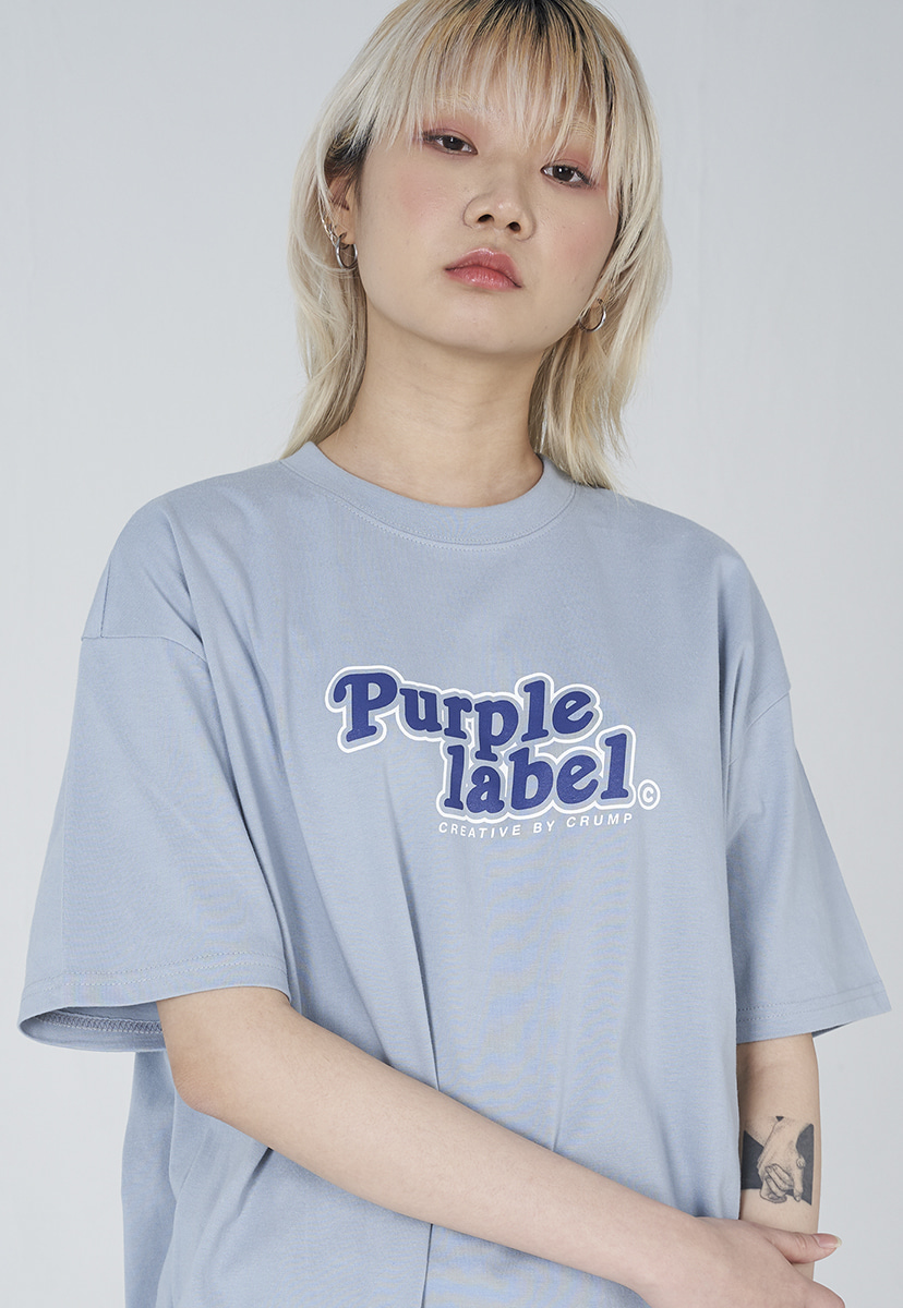 [퍼플라벨] Purple label roundig logo tee (PT0010-1)