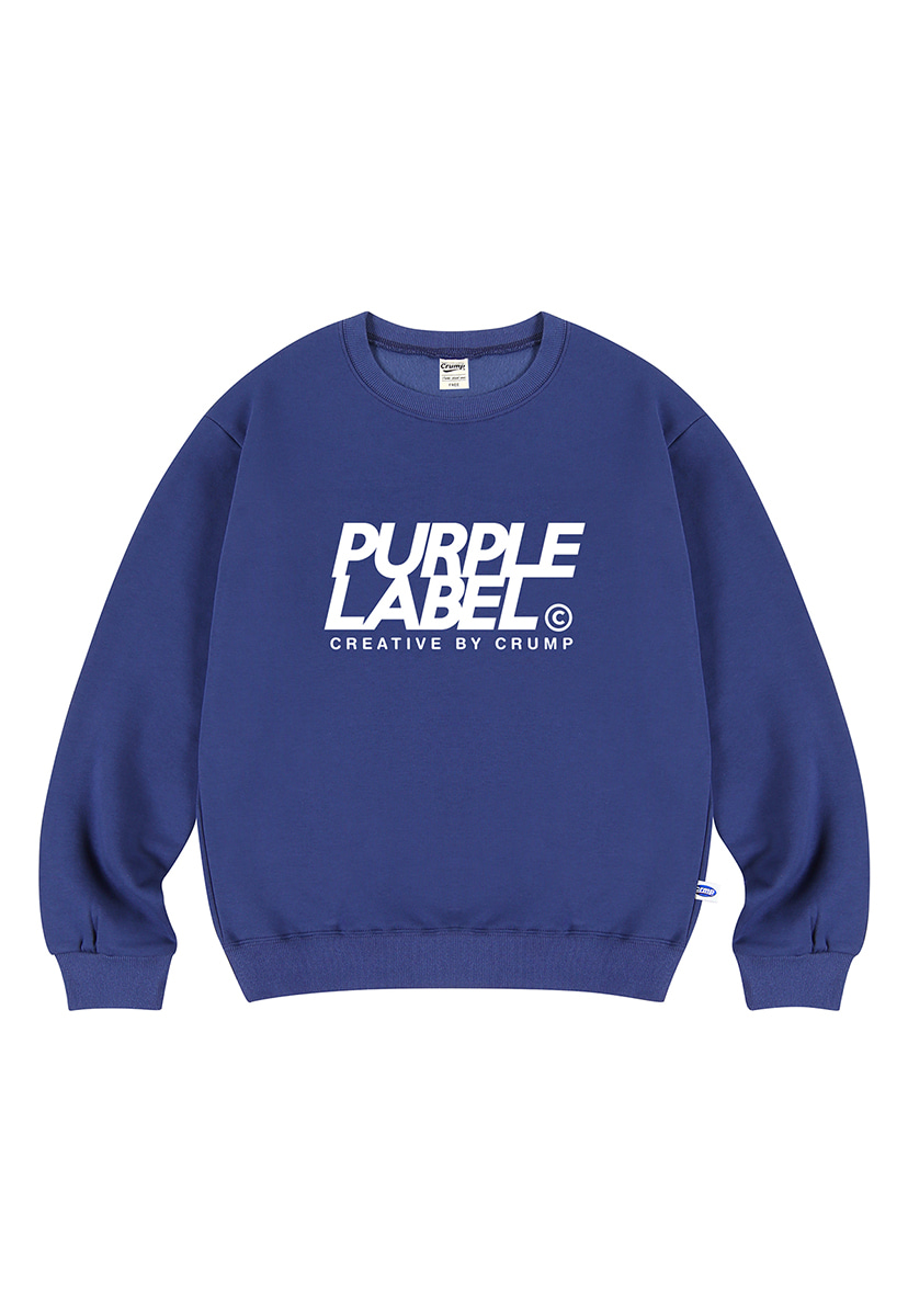 [퍼플라벨] Purple label Signature Logo crewneck (PT0022)