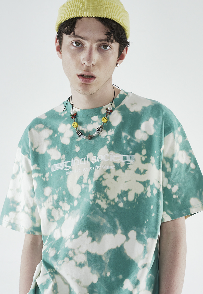 [크럼프] Crump bleach tIe-dye t-shirt (CT0266-1)