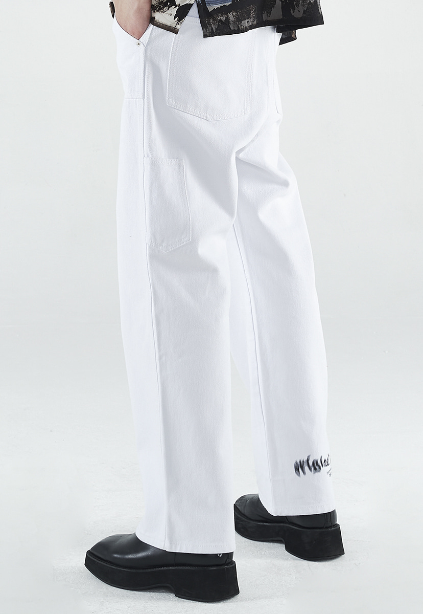 [크럼프] Crump white wide denim pants (CP0141)
