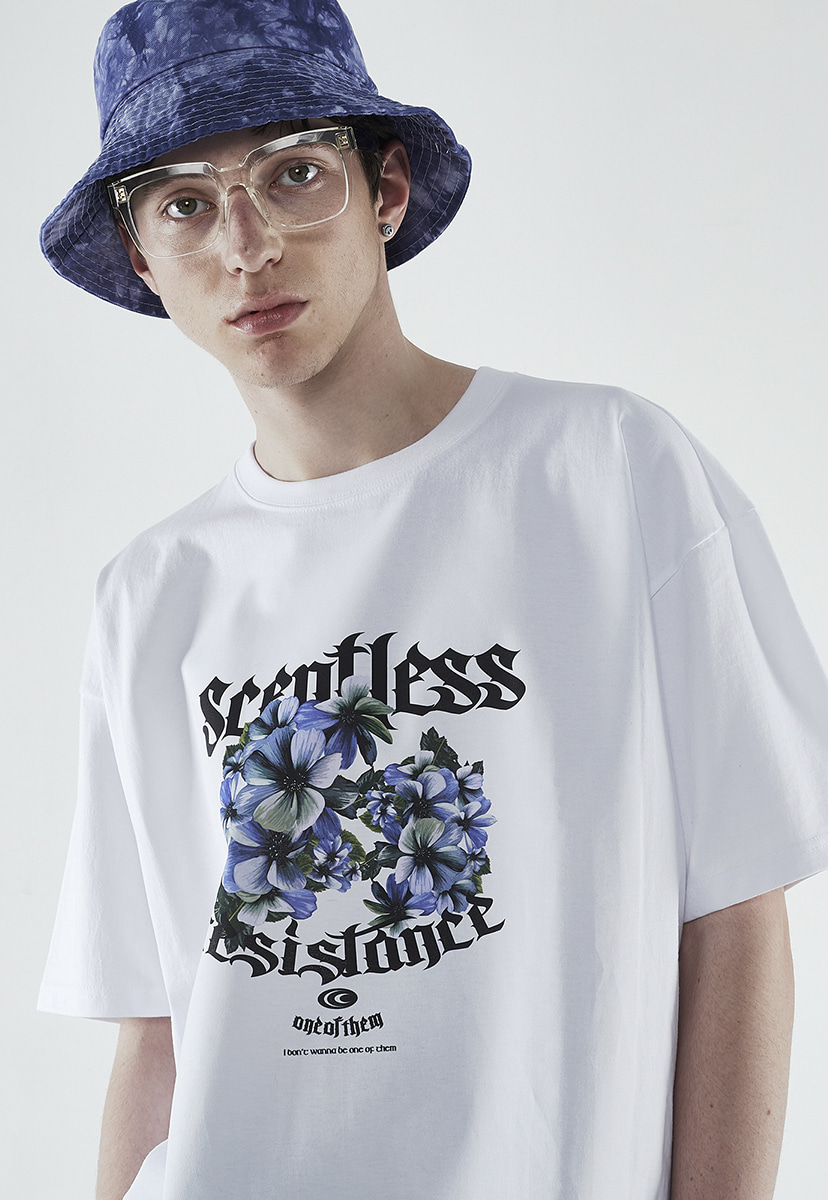 [크럼프] Crump scentless flower t-shirt (CT0267-1)