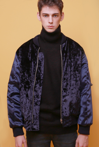 Crump velvet MA-1 jacket (CO0002) navy