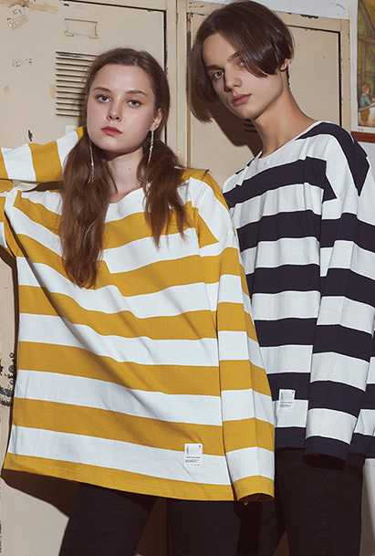 [크럼프] Crump plain stripe long sleeve tee(CT0112)