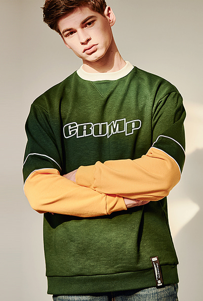 [크럼프] Crump cream sweat shirt (CT0128-1)