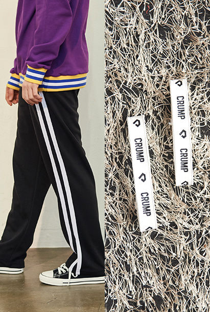 [크럼프] Crump two line track pants + Crump logo pants holder (CP0050) [10/12 예약배송]