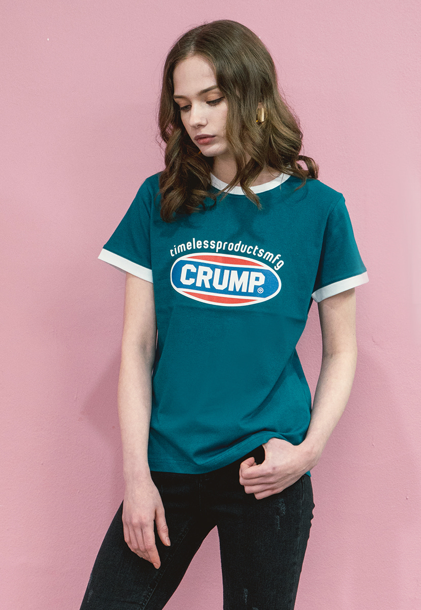 [크럼프] Crump color logo woman tee (CT0140-2)