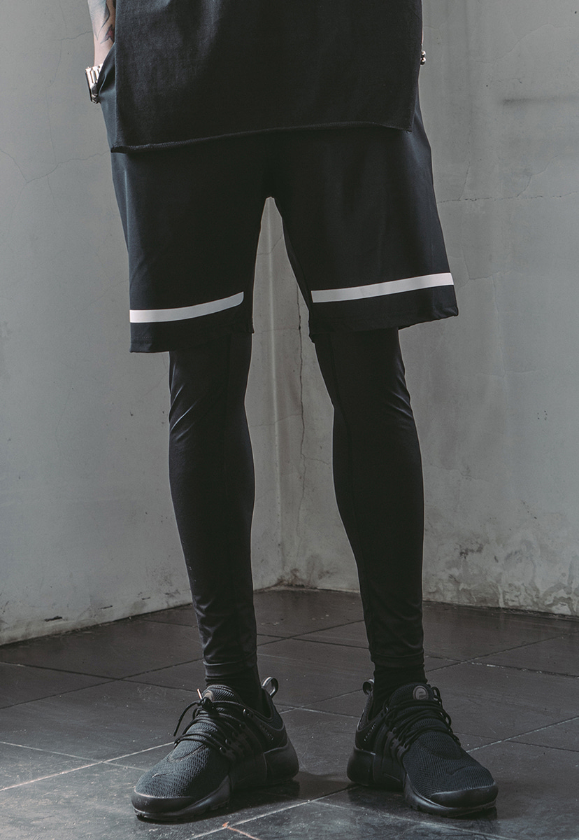 [크럼프] Tech flavor USG leggings half pants(TP0007)
