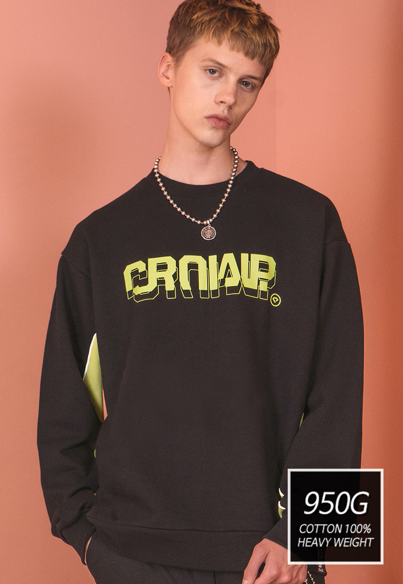 [크럼프]] [기모] 950g Crump two tone sweat shirt (CT0173)