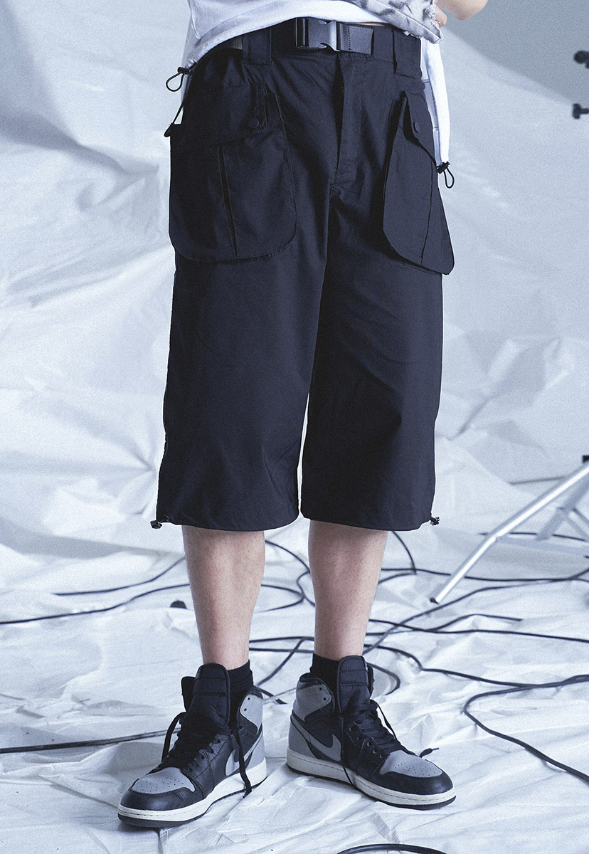 [테크플레이버]   Techflavor technical wide half pants (TP0020)