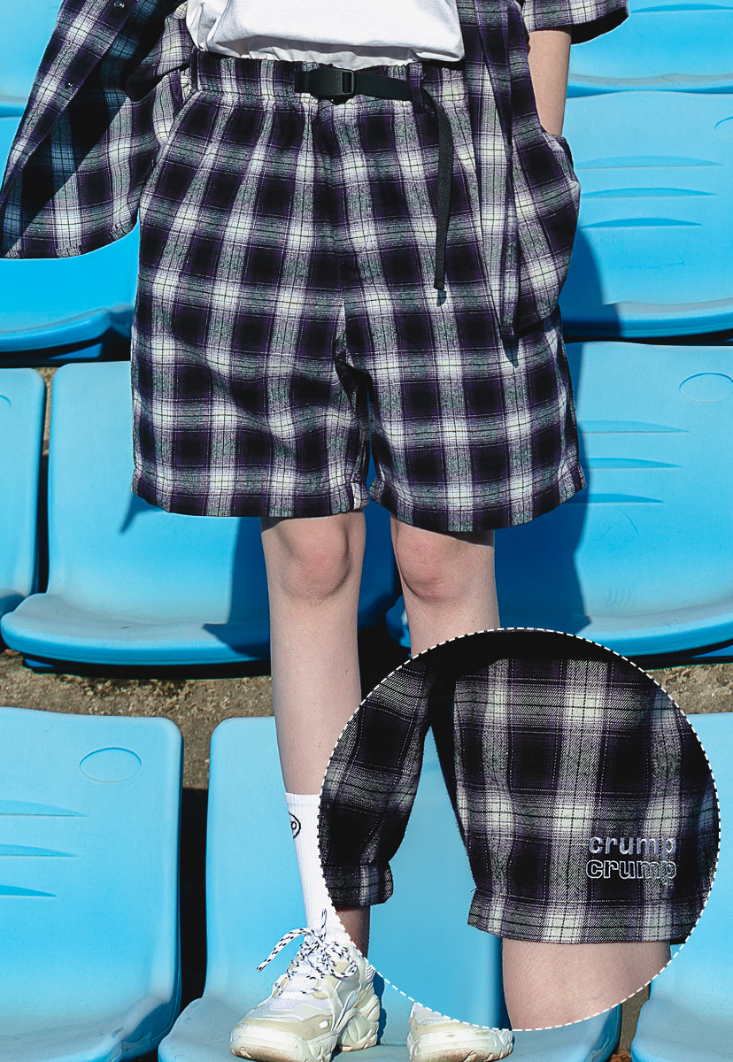 [크럼프] Crump plaid check half pants (CP0088-1)