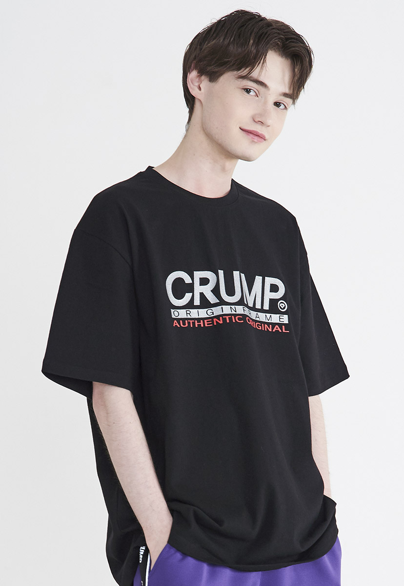 [크럼프] Crump glitter logo t-shirt (CT0210)