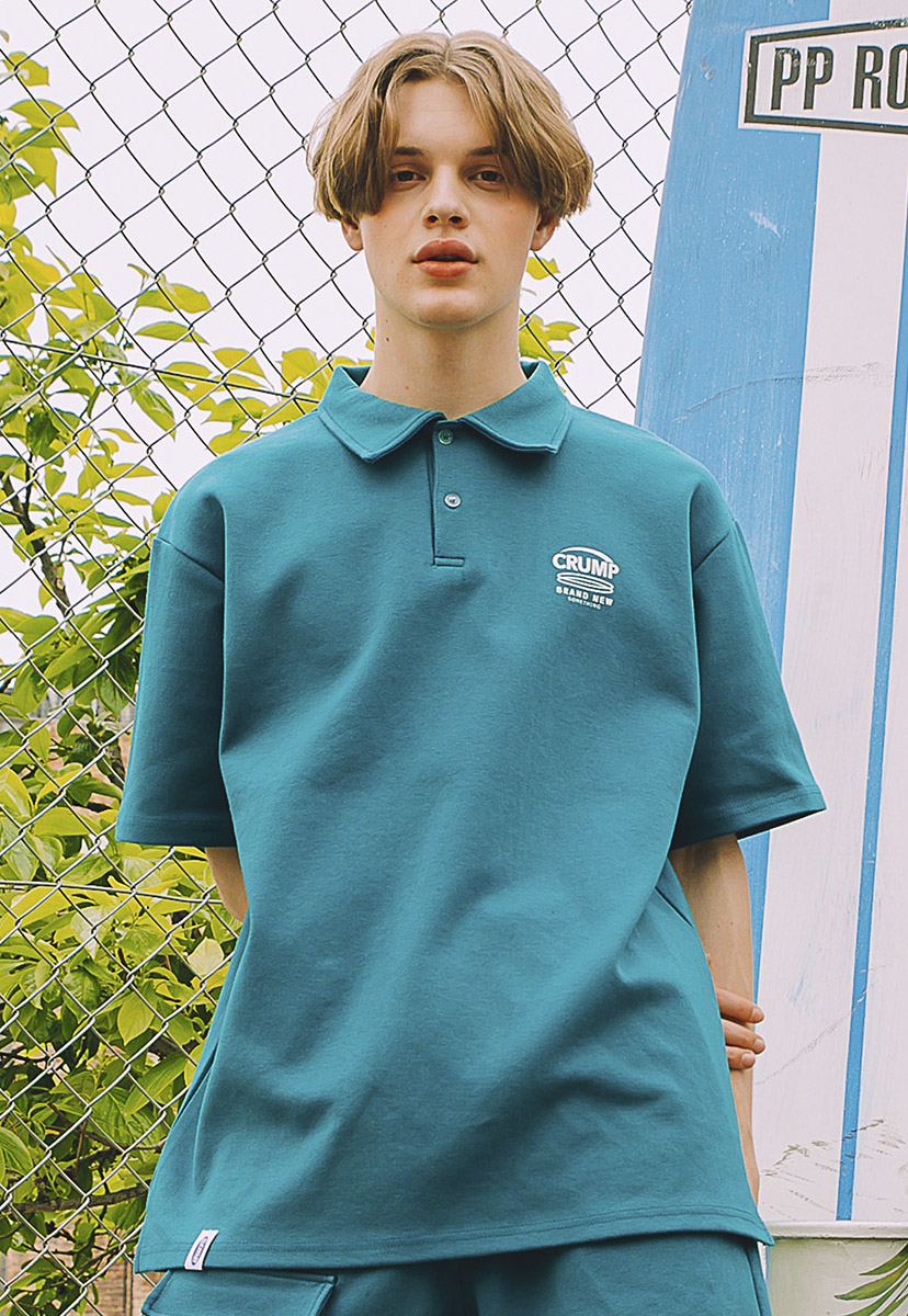 [크럼프] crump brand new logo pique shirts (CT0217-1)