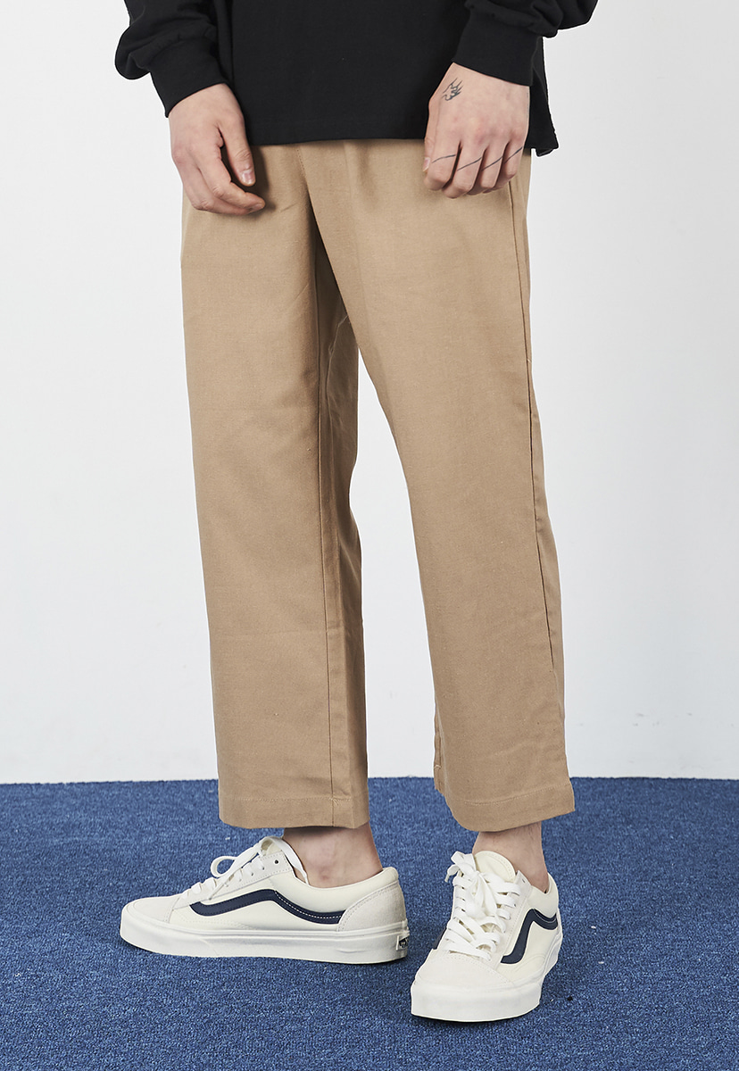 [크럼프] Crump linen crop pants (CP0100-2)