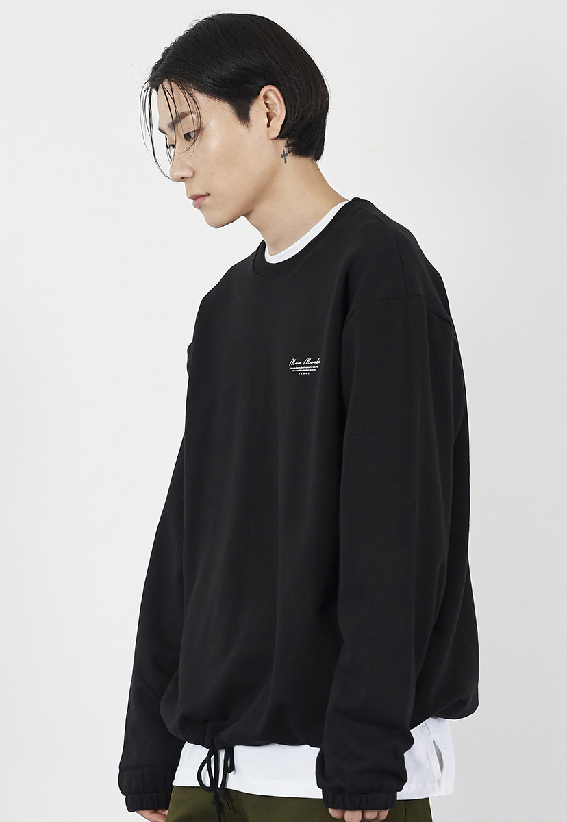 [크럼프] Crump drawstring cursive crewneck (CT0225)