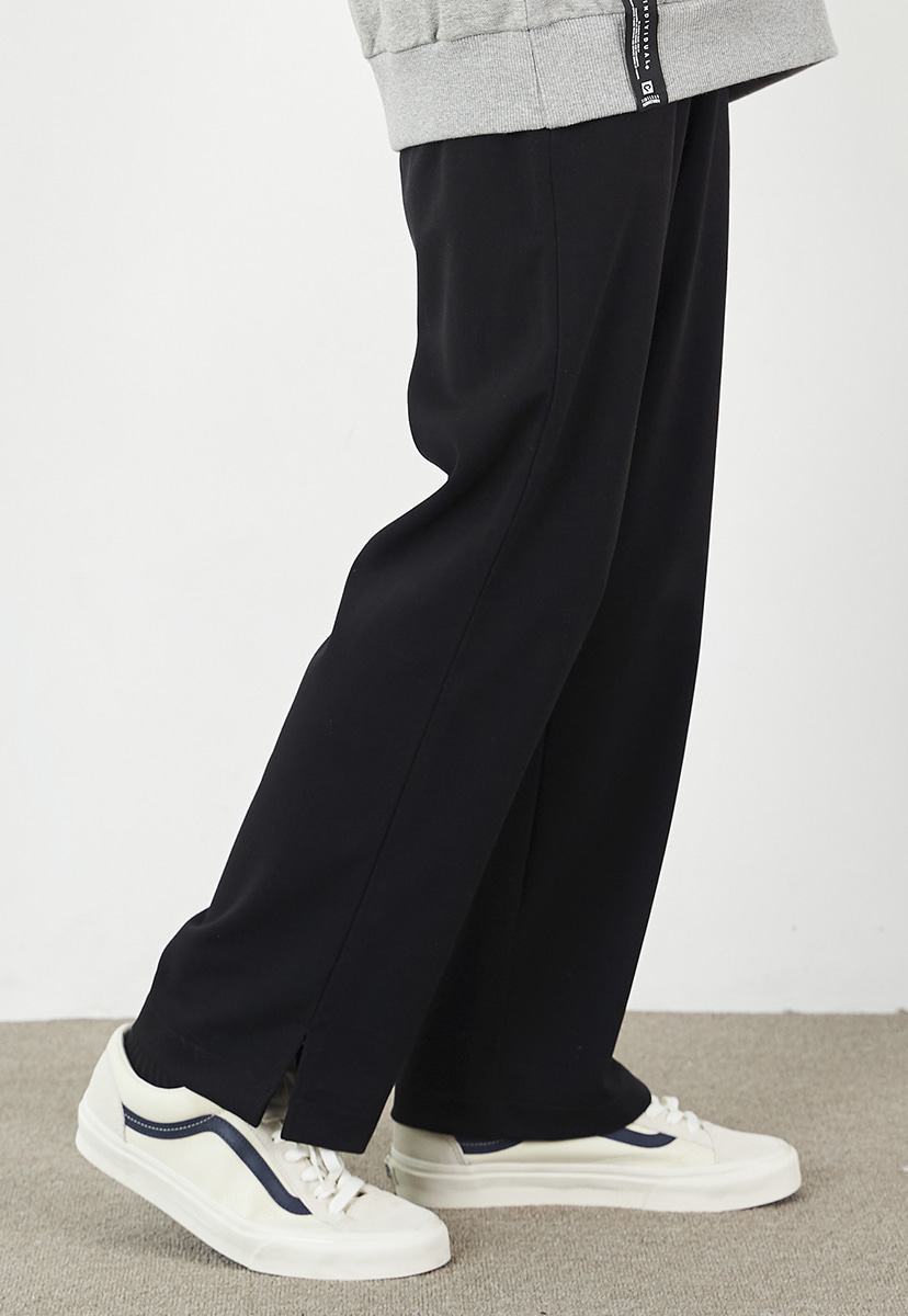 [크럼프] Crump semi wide banding side slit slacks (CP0109)