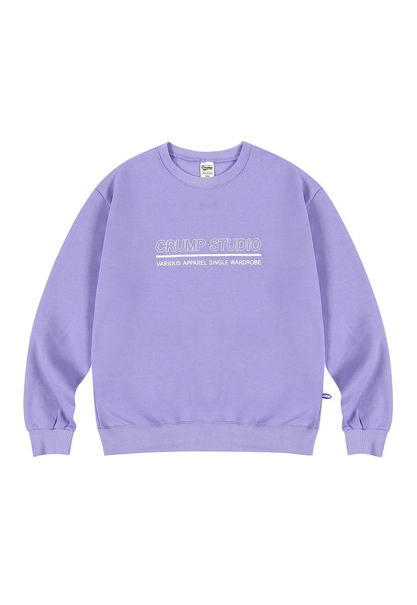 [크럼프][기모] Crump outline logo crewneck (CT0236g-2)