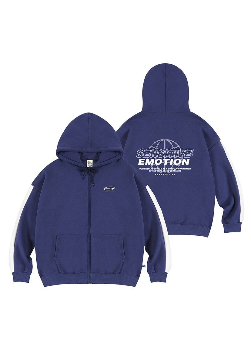 [크럼프][기모] Crump emotion line hoodie zip-up (CT0239g-1)