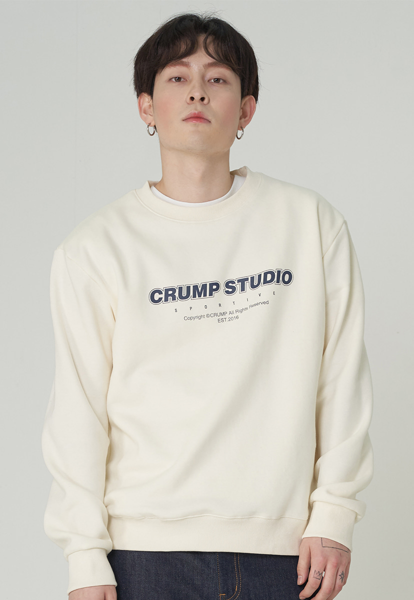 [크럼프][기모] Crump studio spotive crewneck (CT0246g-2)