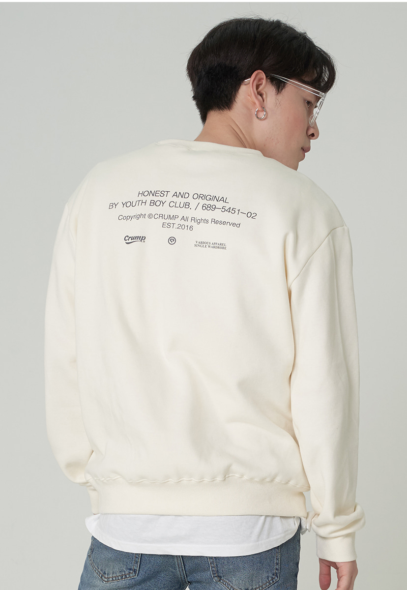 [크럼프][기모] Crump honest original crewneck (CT0248g-2)