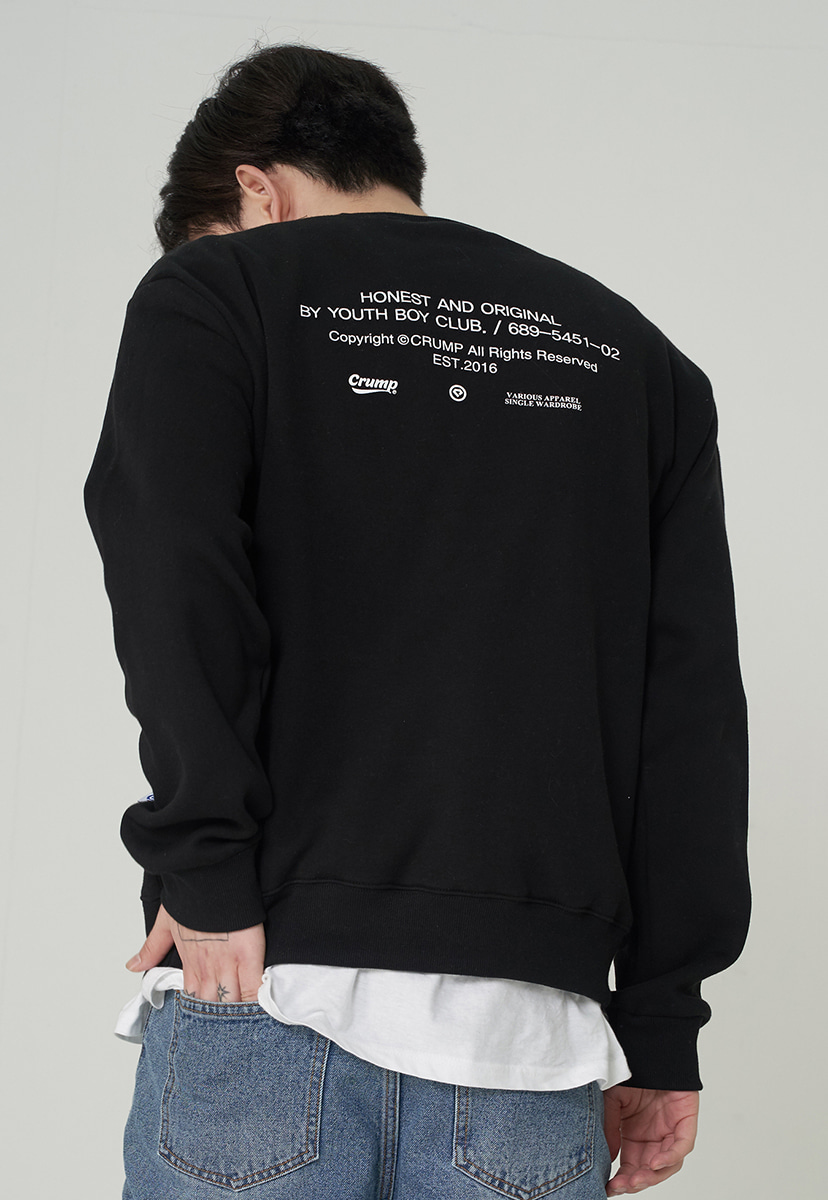 [크럼프][기모] Crump honest original crewneck (CT0248g)