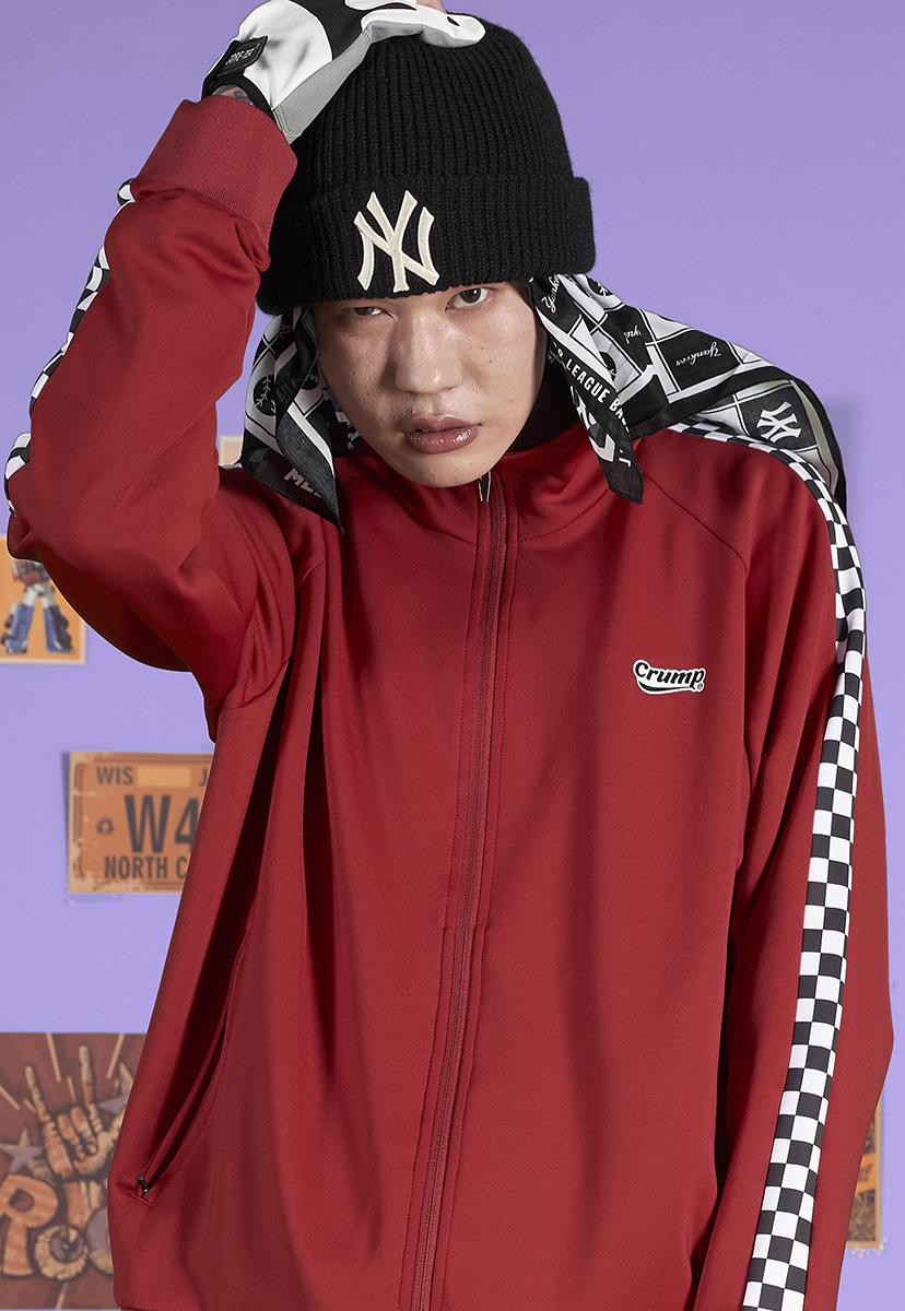 [크럼프] Crump checkerboard track top (CO0041-1)