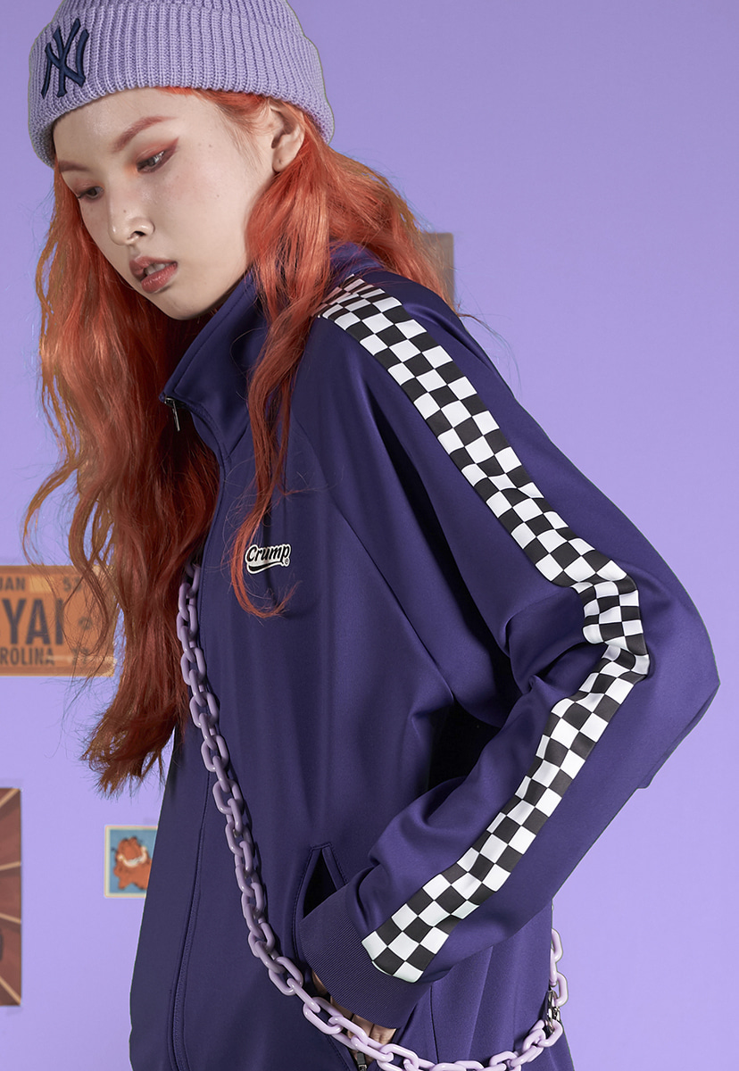 [크럼프] Crump checkerboard track top (CO0041-2)