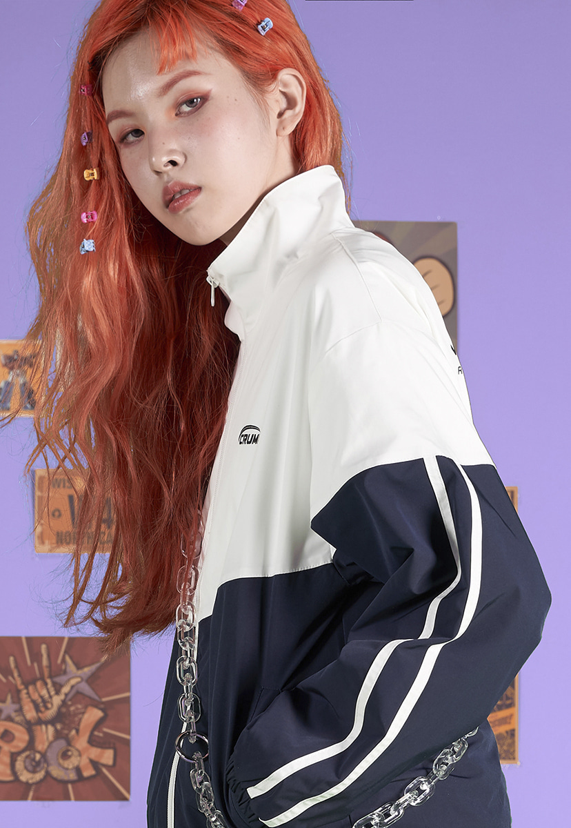 [크럼프] Crump block two line track jacket (CO0038-1)