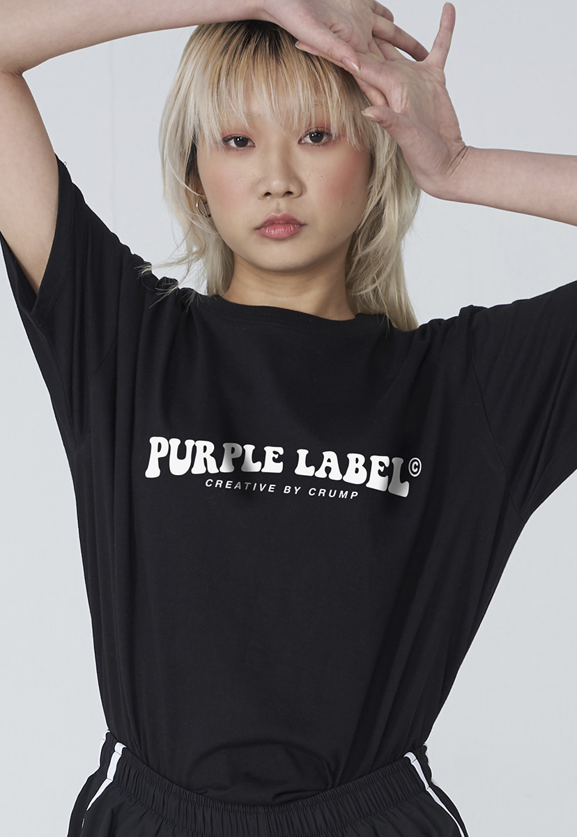 [퍼플라벨] Purple label groovy logo tee (PT0006)