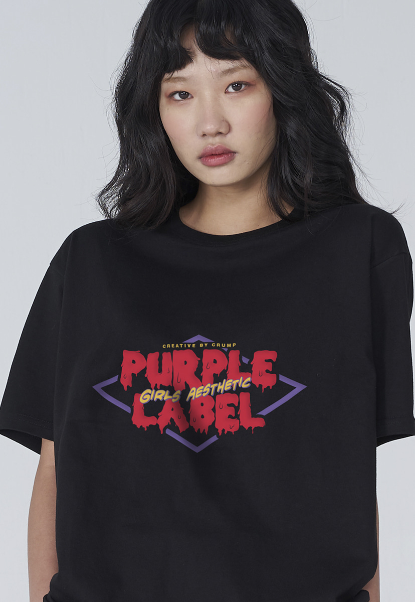 [퍼플라벨] Purple label melting logo tee (PT0007)