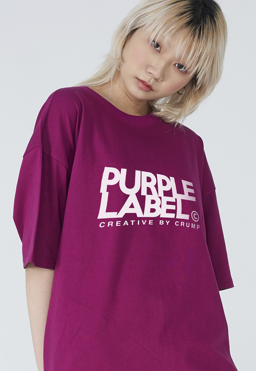 [퍼플라벨] Purple label signature logo tee (PT0001-1)