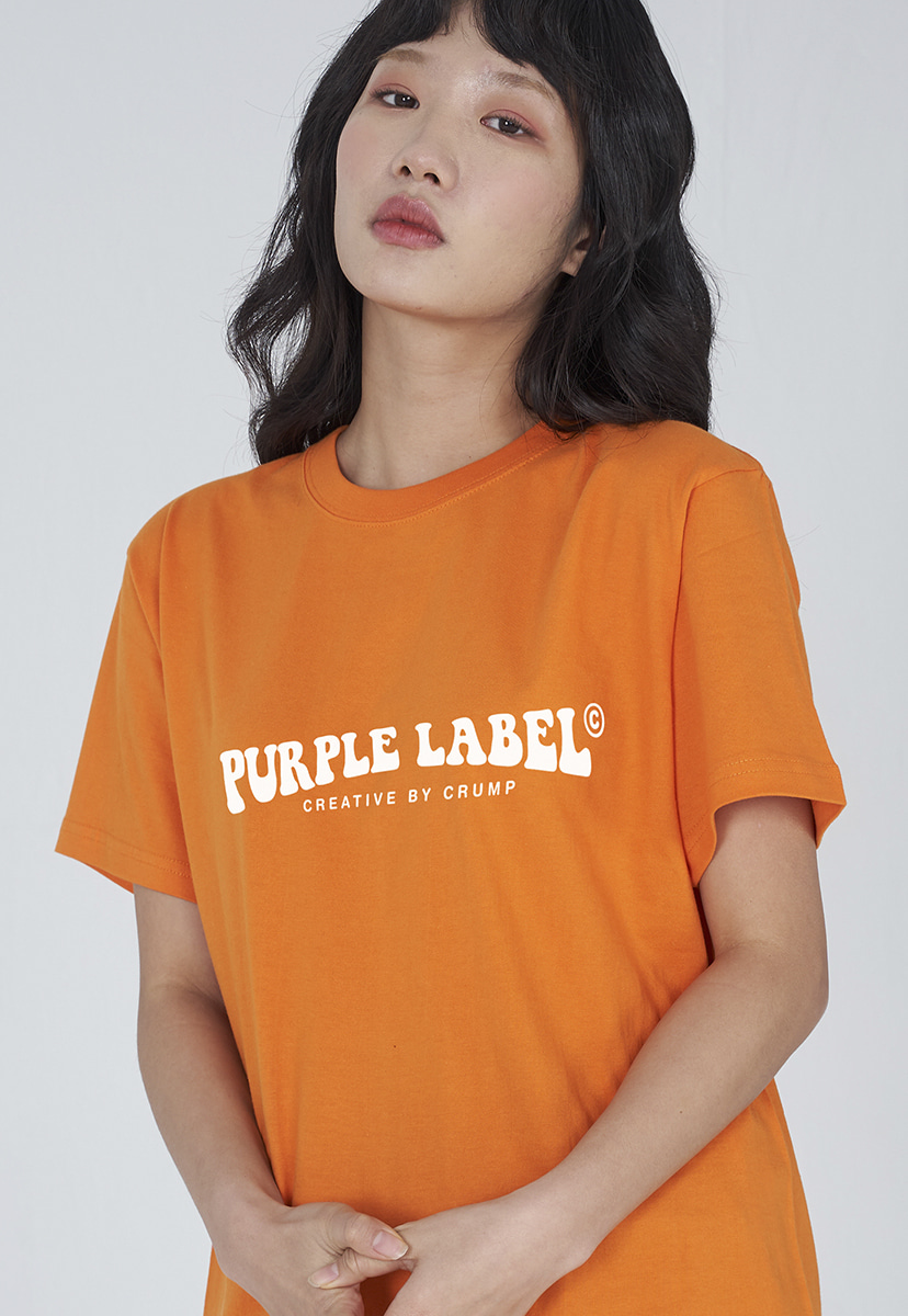 [퍼플라벨] Purple label groovy logo tee (PT0006-1)