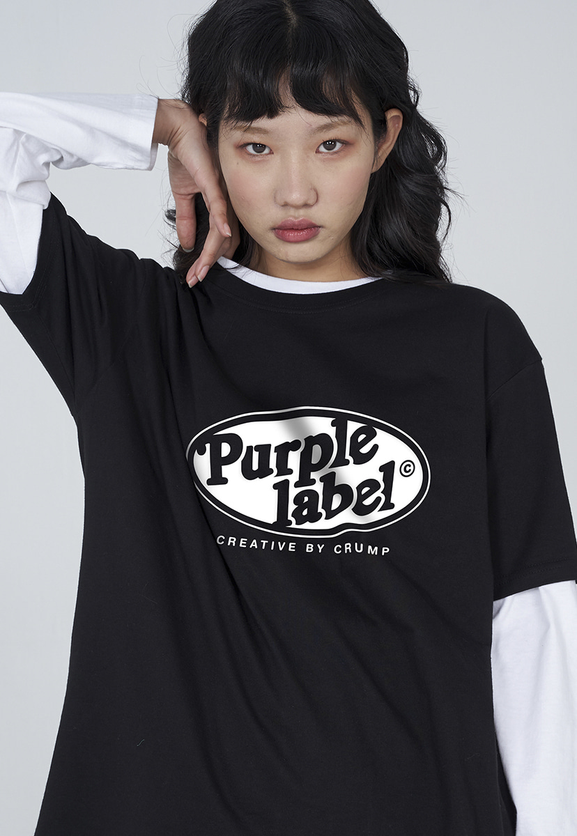 [퍼플라벨] Purple label circle line lettering tee (PT0005)
