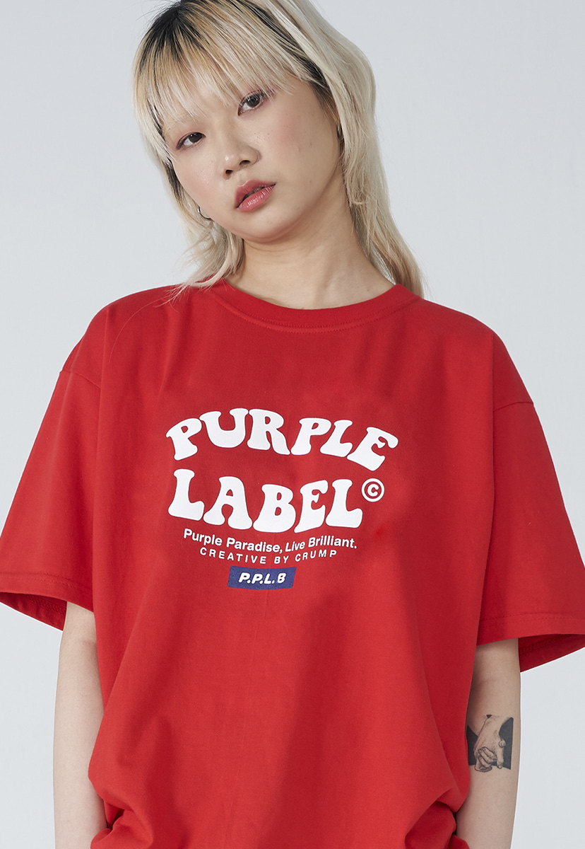 [퍼플라벨] Purple label convex logo tee (PT0011-1)