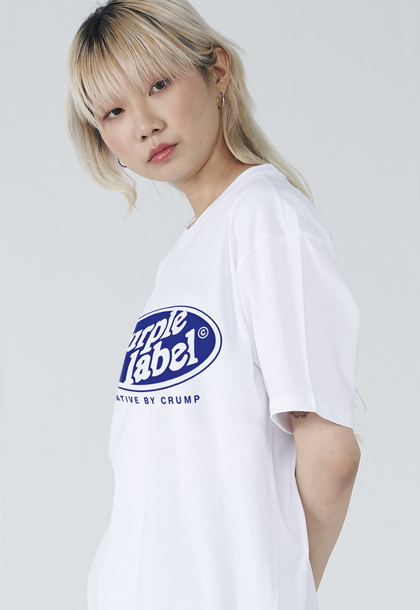 [퍼플라벨] Purple label circle line lettering tee (PT0005-3)