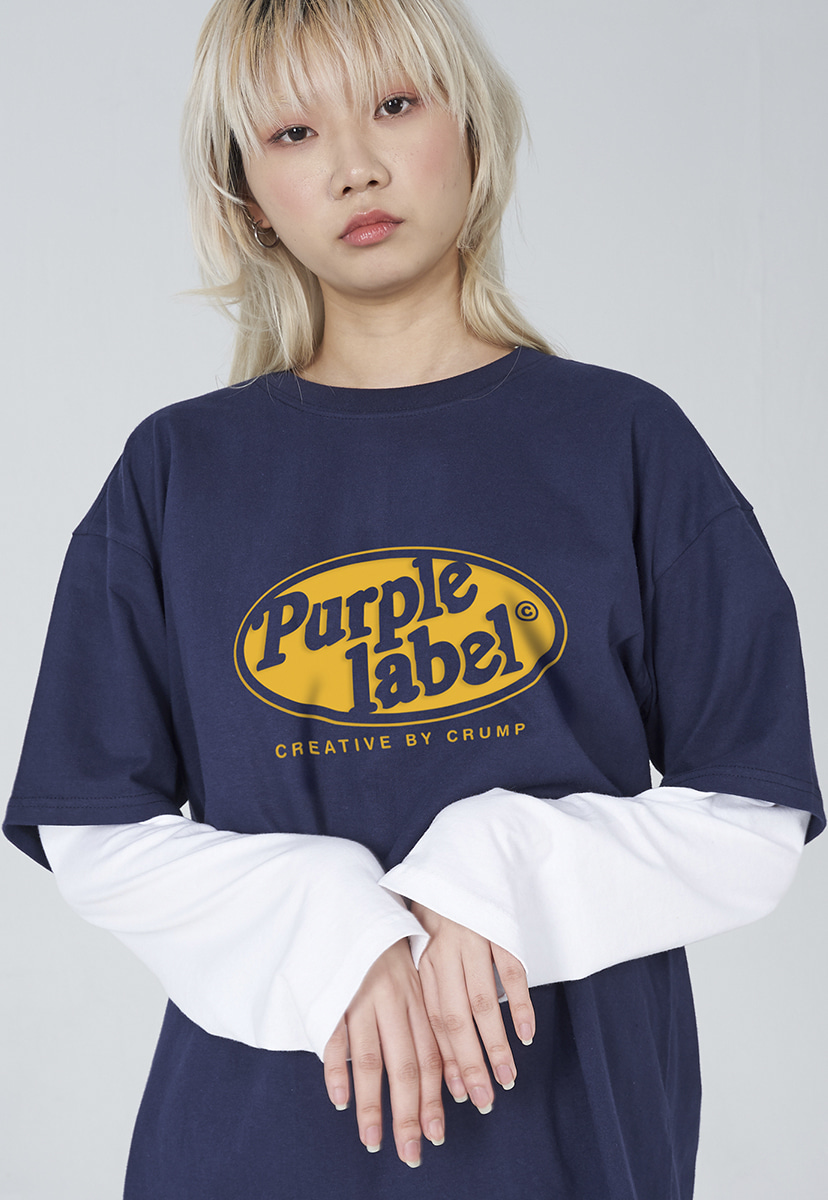 [퍼플라벨] Purple label circle line lettering tee (PT0005-1)